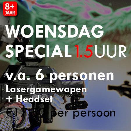 Lasergame Woensdagmiddag Special